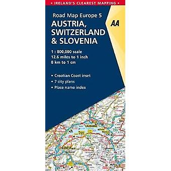 5. Austria - Switzerland & Slovenia - AA Road Map Europe by AA Pub