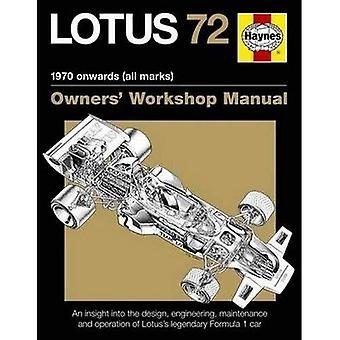 Lotus 72 Owner's Manual ('Owners Workshop Manual)