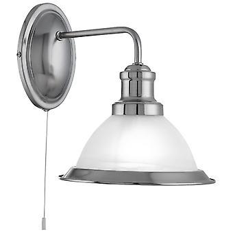 Bistro satynowa Silver ściana światło z kwasu szkło - Searchlight 1481SS
