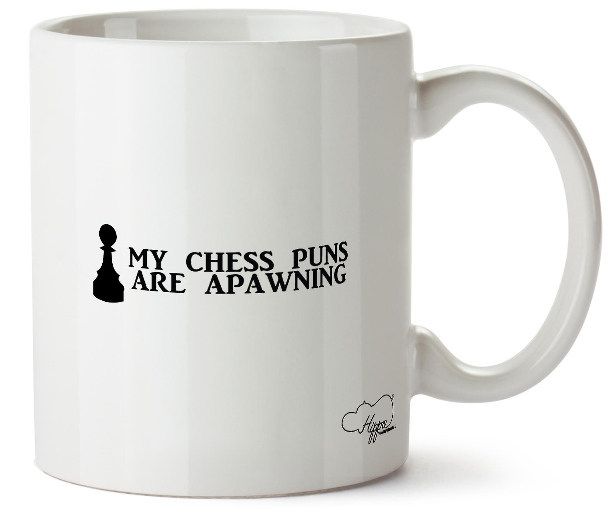 Hippowarehouse My Chess Puns Are Apawning Printed Mug Cup Ceramic 10oz