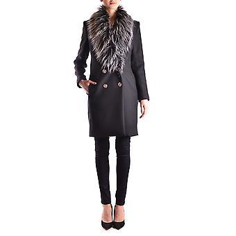 Elisabetta Franchi Ezbc050095 Women's Black Wool Coat
