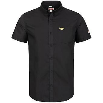 Lonsdale mens kort ärm skjorta vanlig skjorta