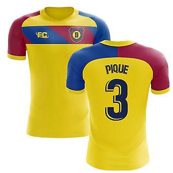 2018-2019 Barcelona Fans Culture Away Concept Shirt (Pique 3) - Kids