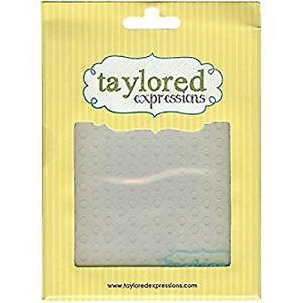 Taylored Expressions Lots Of Dots Embossing Folder