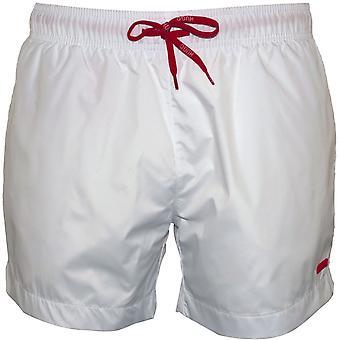 HUGO Barbados Uimashortsit, Valkoinen/punainen