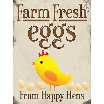 Grindstore Happy Hens Tin Sign
