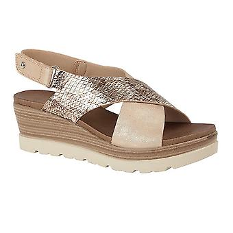 Cipriata Womens/Ladies Fiore Crossover High Wedge Sandals