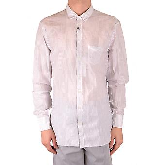 Neil Barrett Ezbc058075 Männer's weißes Baumwollhemd