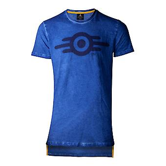 Difuzed Fallout 76 olie Vault mens T-shirt klein blauw (TS853241FAL-S)