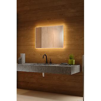 RGB bakgrunnsbelyst speil med sensor, Demsiter, barbermaskin socket k703BLrgb
