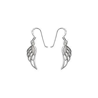 Evigheden sterling sølv engel fløj drop øreringe
