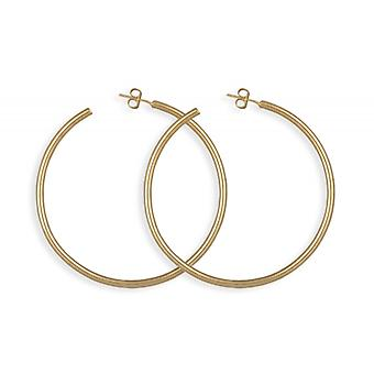 Creole Plated Gold Round Wire 60mm
