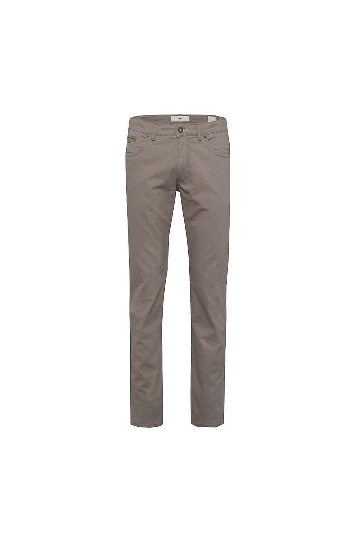 Brax Cadiz C Two-tone Straight Leg Cotton Jeans Mushroom