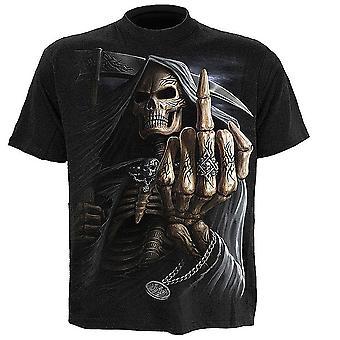 スパイラル - 骨指 - メンズ半袖Tシャツ、ブラック