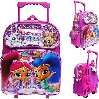 Small Rolling Backpack - Shimmer and Shine - Tala & Nahal 12