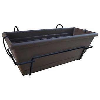 Nortene Planter balcony Floria with metal support 60x20x18 cm