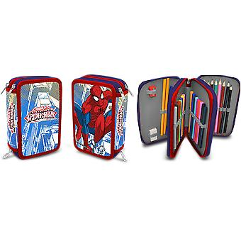 Kids Euroswan Plumier 3 Zips Spider-Man (Babies and Children , Toys , School Zone)