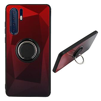 Back Cover Ring/magnet Aurora Huawei P30 Pro red + Black