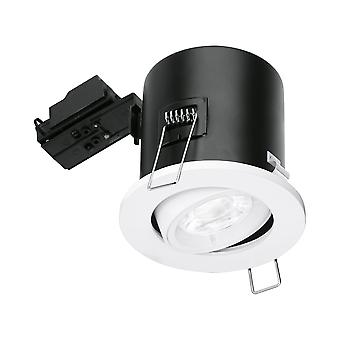 Enlite GU10 Fire Rated Tilted Downlight - White
