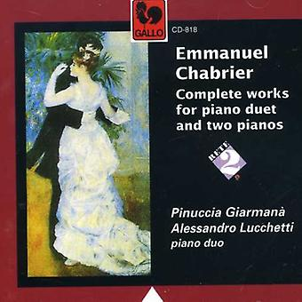E. Chabrier - Chabrier: Complete Works for 2 Pianos [CD] USA import
