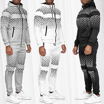 Men's Jogging Suit Streetwear Tracksuit Sweater Pattern Print Triangle Casual