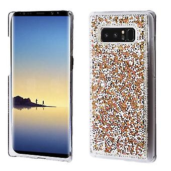 MYBAT Rose Gold Mini Crystals Rhinestones Desire Back Protector Cover for Galaxy Note 8