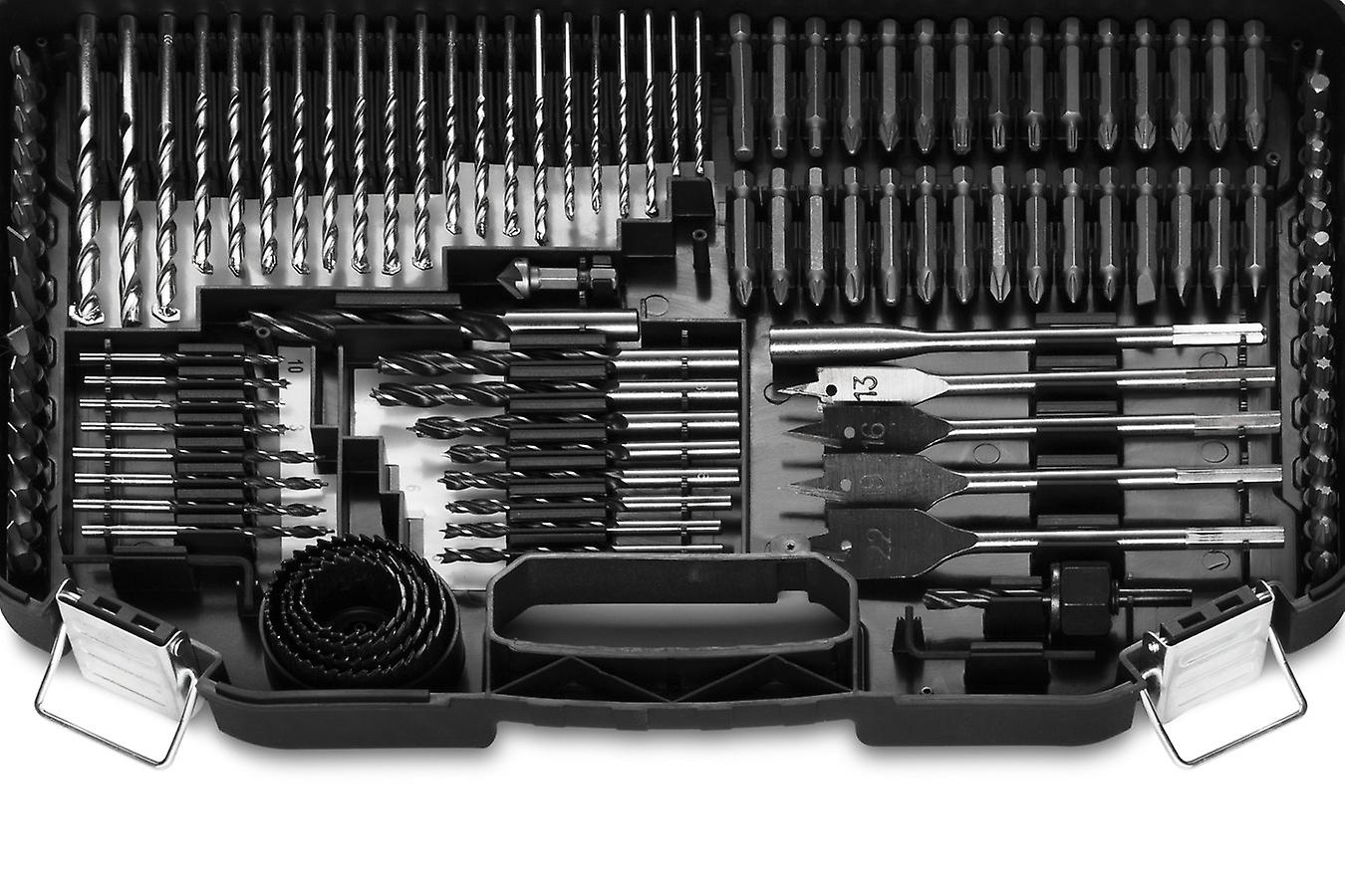WOLFGANG 246 Parts Drill Bit Set for Cordless Drills, Drill, Bit Set Bit Holder Magnetic, Twist, Milling, Wood, Stone Drill, Hole Saw, in Case