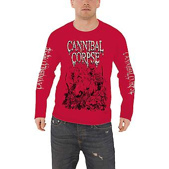 Cannibal Corpse T Shirt Butchered At Birth new Official Mens Red Long Sleeve