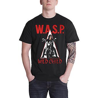 WASP T Shirt Wild Child The Last Command Band Logo Official Mens New Black