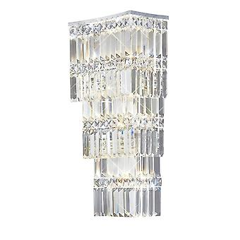 Diyas Gianni Wall Lamp 4 Light Polished Chrome/Crystal