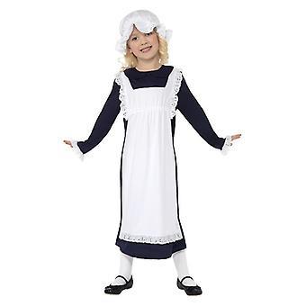 Meisjes Victoriaans arme meisje Fancy Dress kostuum