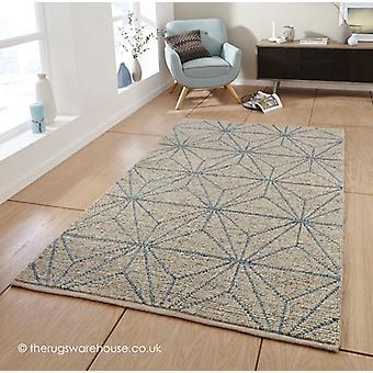 Alpha geometrische Teppich Beige