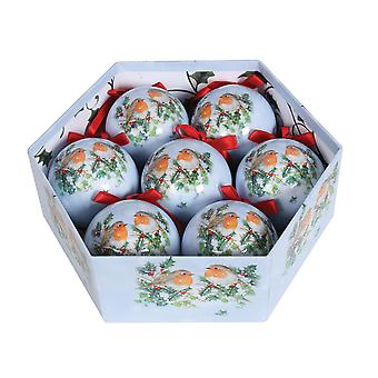 Straits 7 Piece Robin Bauble Gift Box