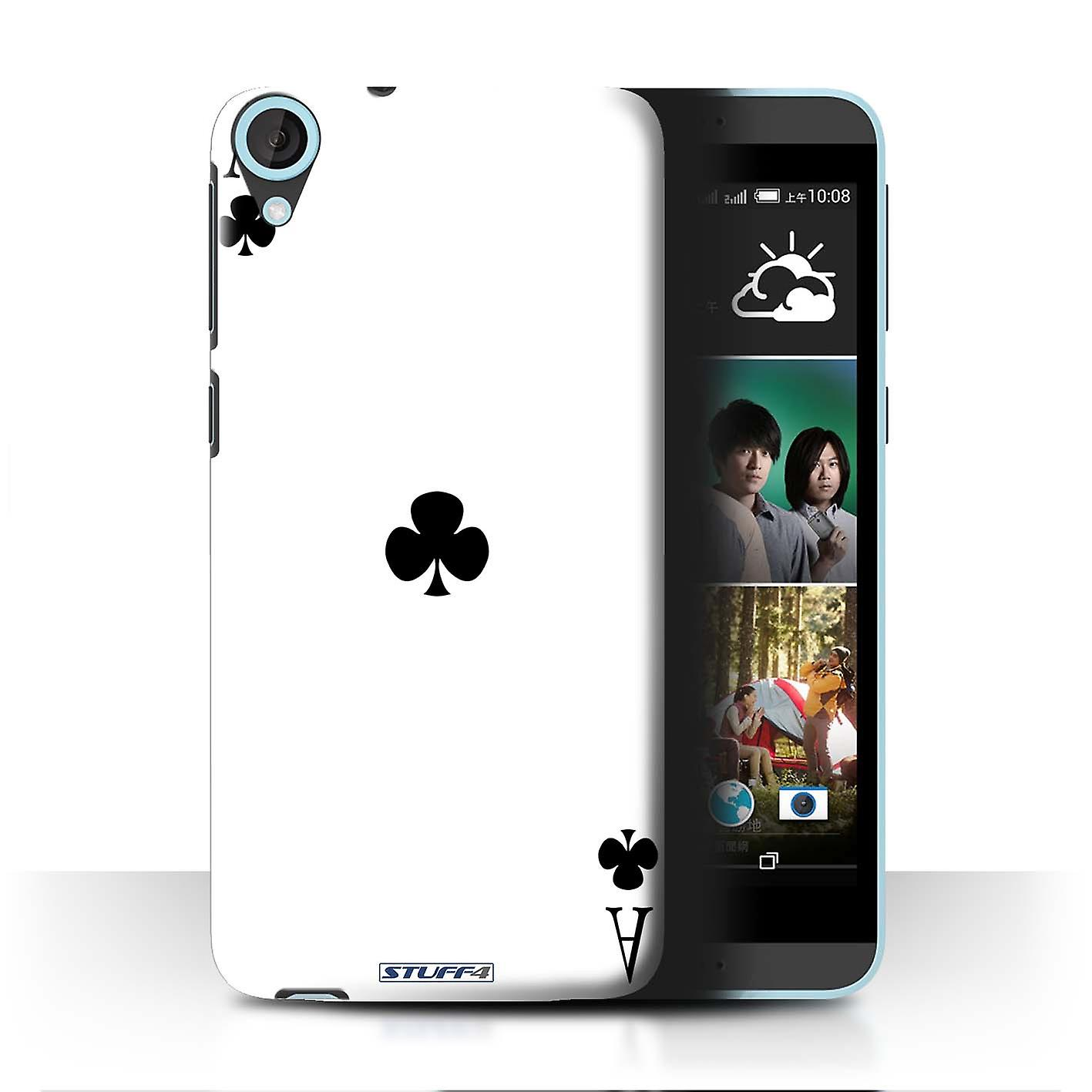 STUFF4 Case/Cover for HTC Desire 820q Dual/Ace of Clubs/Playing Cards