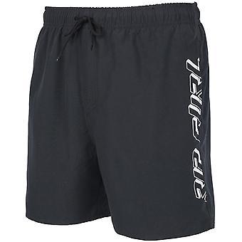 Rip Curl volley tidlös 16 ' ' elastiska Boardshorts i svart