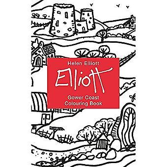Helen Elliott Concertina Colouring Book: Gower Coast