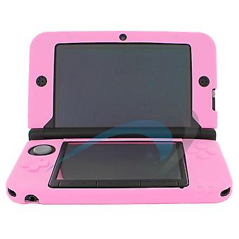 Soft gel silicone cover case for nintendo 3ds xl - pink