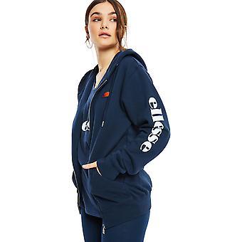 Ellesse vrouwen ' s serinatas zip front hoodie Navy 46