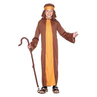 Boys Childrens Shepherd fødsel Christmas Fancy Dress drakt