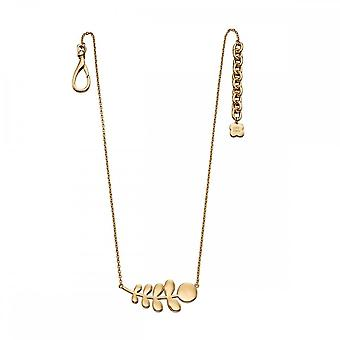 Orla Kiely Yelow Gold Plated Leaf Necklace N4119
