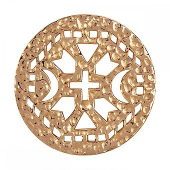 Nikki Lissoni Ancient Cross Medium Gold Plated Coin C1176GM