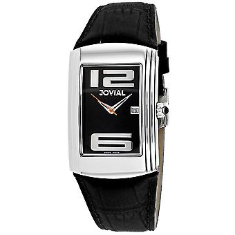 Jovial Men's Classic Black Dial Watch - 08004-GSL-04