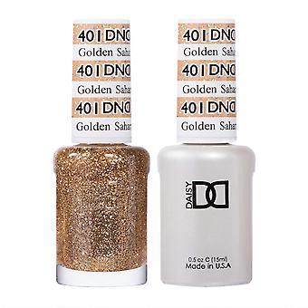 Dnd Duo Gel & Nail Polish Set - Golden Sahara Star (DND401) 2 X 15ml