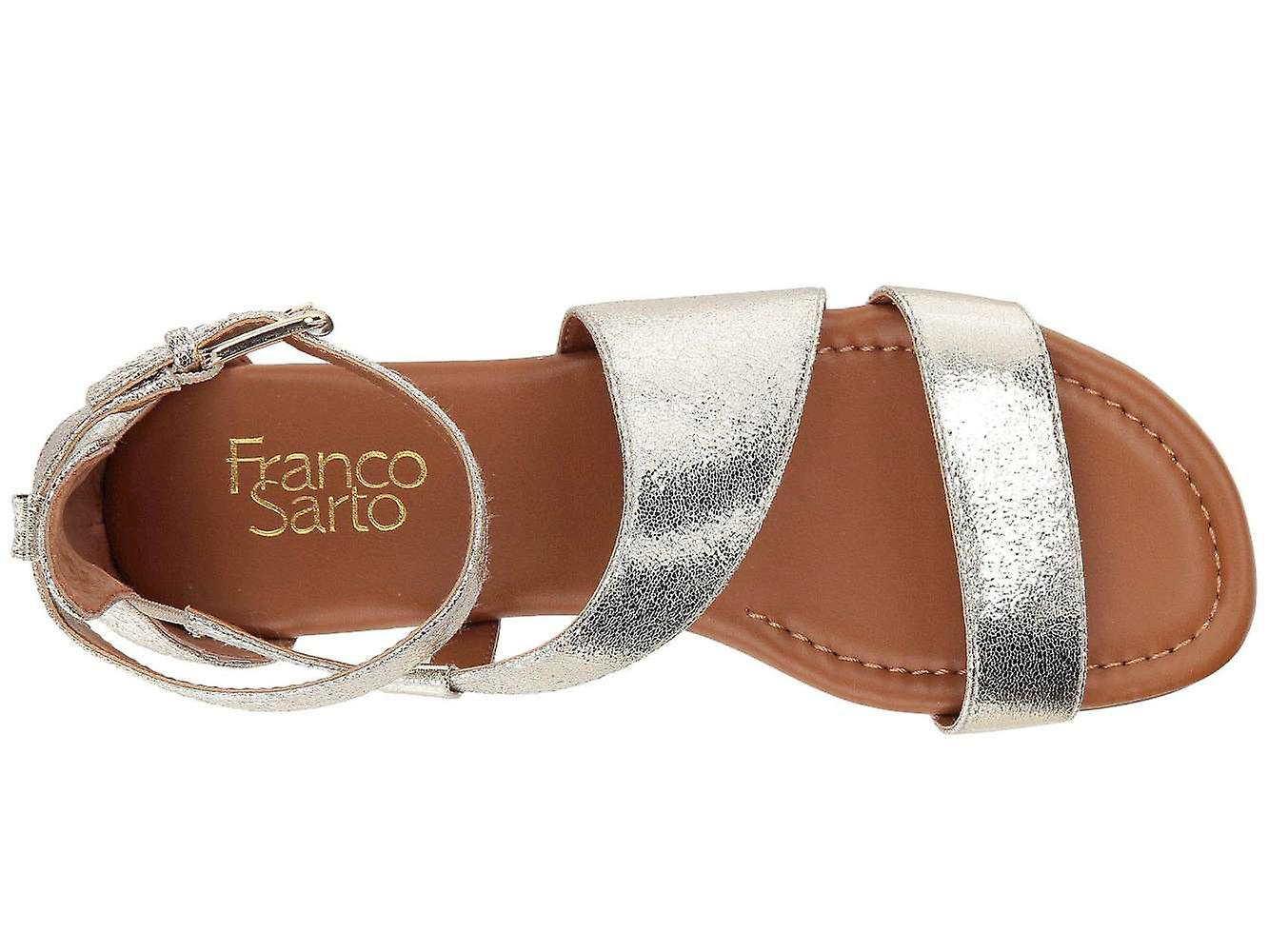 Franco Sarto Womens Griffith2 Fabric Peep Toe Casual Strappy Sandals