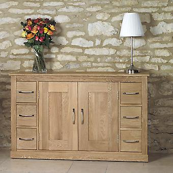 Mobel Oak Six Drawer Sideboard-Baumhaus