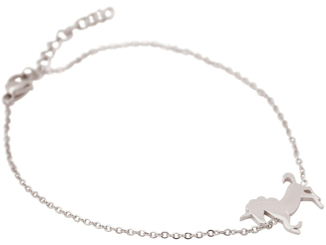GEMSHINE Damen oder Mädchenarmband, vestellbar EINHORN Silber, vergoldet, rose