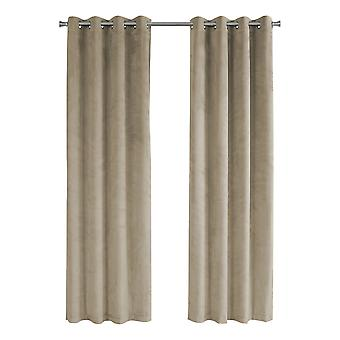 "52"" x 95"" Beige, Room Darkening - Curtain Panel 2pcs"