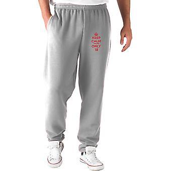 Pantaloni tuta grigio wtc0017 keep calm youre only8