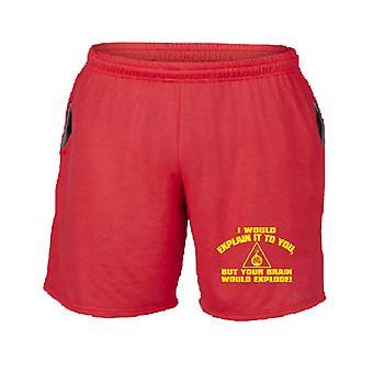 Pantaloncini tuta rosso trk0875 explode