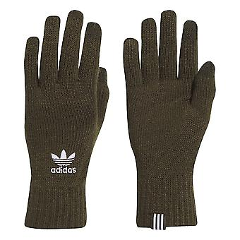 adidas Originals Mens Knitted Winter Smartphone Gloves Khaki